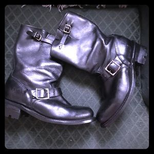 ❣️FRYE VERONICA* moto mid calf leather boots sz9.5